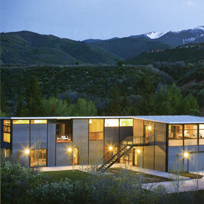 Woody Creek Modern Modular fully integrated home featured in Resort Home Magazine