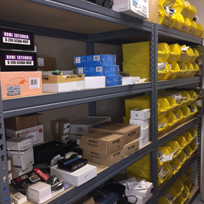 Alphabetical storage of common service parts