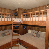 Snowmass Ski in Ski Out Chalet showing bunk beds 4 TV solution
