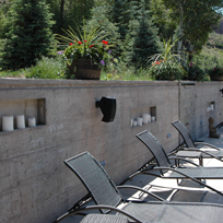 Woody Creek Estate showing landscape audio system